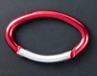 Moschettone Ovale in alluminio colorato