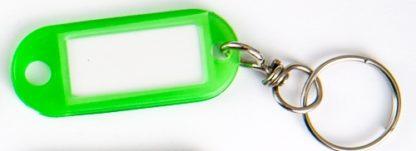 Confezione 100 pz Targhette Portachiavi in plastica colorata