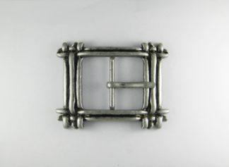 Fibbia rettangolare per cintura - argento anticato