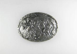 Fibbia ovale per cintura - nikel anticato
